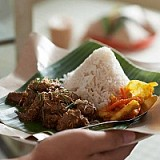 Beef curry rendang