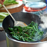 Chinese vegetables with oyster sauce