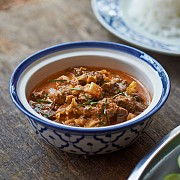 Beef with red curry