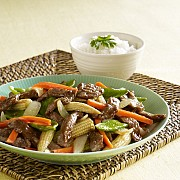BEEF AND VEGETABLES WITH OYSTER SAUCE